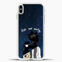 Load image into Gallery viewer, Rick Morty Blue Sky iPhone X Case, White Plastic Case | casedilegna.com