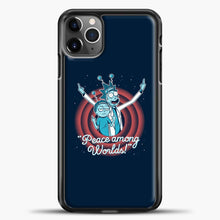 Load image into Gallery viewer, Rick Morty Dark Blue iPhone 11 Pro Max Case, Black Plastic Case | casedilegna.com