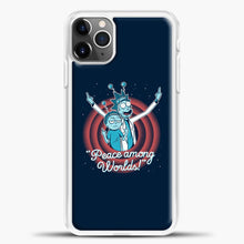 Load image into Gallery viewer, Rick Morty Dark Blue iPhone 11 Pro Max Case, White Plastic Case | casedilegna.com