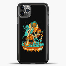 Load image into Gallery viewer, Rick Morty Friends iPhone 11 Pro Max Case, Black Plastic Case | casedilegna.com
