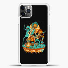 Load image into Gallery viewer, Rick Morty Friends iPhone 11 Pro Max Case, White Plastic Case | casedilegna.com