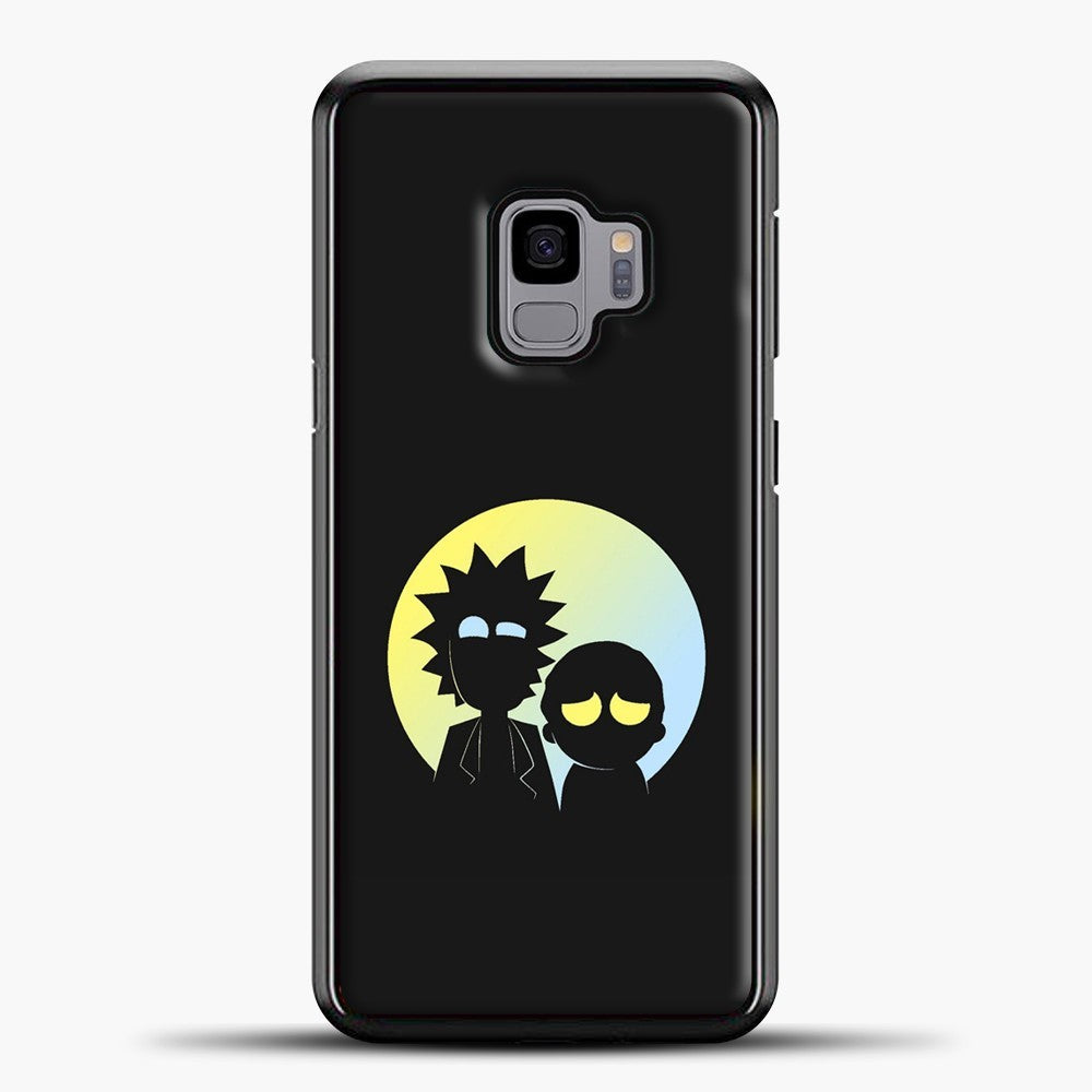 Rick Morty Gradient Circle Samsung Galaxy S9 Case, Black Plastic Case | casedilegna.com