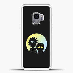 Rick Morty Gradient Circle Samsung Galaxy S9 Case, White Plastic Case | casedilegna.com