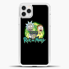 Load image into Gallery viewer, Rick Morty Green Light iPhone 11 Pro Case, White Plastic Case | casedilegna.com