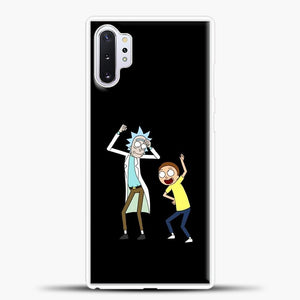 Rick Morty Happy Samsung Galaxy Note 10 Plus Case, White Plastic Case | casedilegna.com