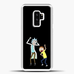 Rick Morty Happy Samsung Galaxy S9 Plus Case, White Plastic Case | casedilegna.com