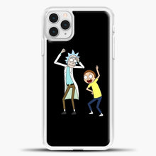 Load image into Gallery viewer, Rick Morty Happy iPhone 11 Pro Case, White Plastic Case | casedilegna.com