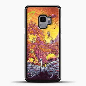 Rick Morty See The Planet Samsung Galaxy S9 Case, Black Plastic Case | casedilegna.com