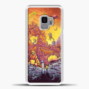 Rick Morty See The Planet Samsung Galaxy S9 Case, White Plastic Case | casedilegna.com