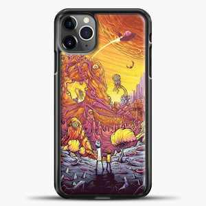 Rick Morty See The Planet iPhone 11 Pro Max Case, Black Plastic Case | casedilegna.com