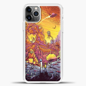 Rick Morty See The Planet iPhone 11 Pro Max Case, White Plastic Case | casedilegna.com