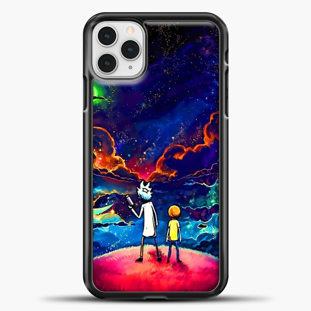 Rick Morty Staring At The Sky iPhone 11 Pro Case, Black Plastic Case | casedilegna.com