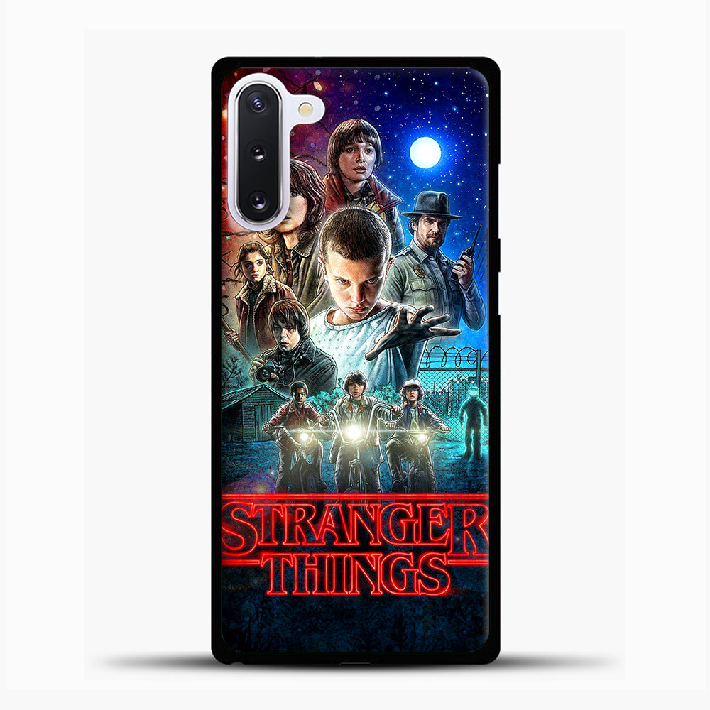 Stranger Things And Friend Samsung Galaxy Note 10 Case, Black Plastic Case | casedilegna.com