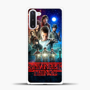 Stranger Things And Friend Samsung Galaxy Note 10 Case, White Plastic Case | casedilegna.com
