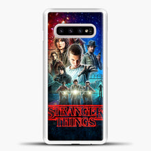 Load image into Gallery viewer, Stranger Things And Friend Samsung Galaxy S10e Case, White Plastic Case | casedilegna.com