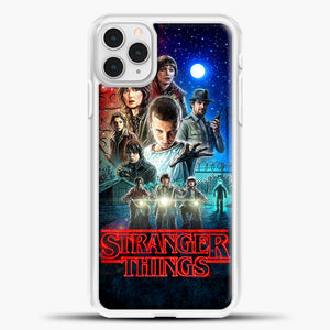 Stranger Things And Friend iPhone 11 Pro Case, White Plastic Case | casedilegna.com