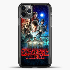 Stranger Things And Friend iPhone 11 Pro Max Case, Black Plastic Case | casedilegna.com