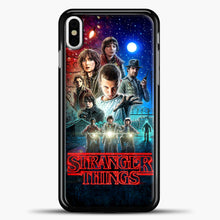 Load image into Gallery viewer, Stranger Things And Friend iPhone X Case, Black Plastic Case | casedilegna.com