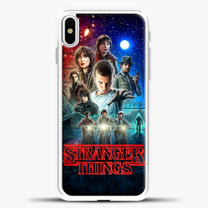 Stranger Things And Friend iPhone X Case, White Plastic Case | casedilegna.com
