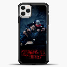 Load image into Gallery viewer, Stranger Things Best Friend Black iPhone 11 Pro Case, Black Plastic Case | casedilegna.com