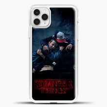 Load image into Gallery viewer, Stranger Things Best Friend Black iPhone 11 Pro Case, White Plastic Case | casedilegna.com