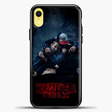 Load image into Gallery viewer, Stranger Things Best Friend Black iPhone XR Case, Black Plastic Case | casedilegna.com