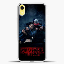 Load image into Gallery viewer, Stranger Things Best Friend Black iPhone XR Case, White Plastic Case | casedilegna.com