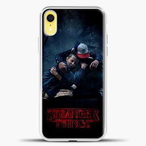 Stranger Things Best Friend Black iPhone XR Case, White Plastic Case | casedilegna.com