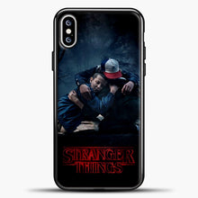 Load image into Gallery viewer, Stranger Things Best Friend Black iPhone XS Max Case, Black Plastic Case | casedilegna.com