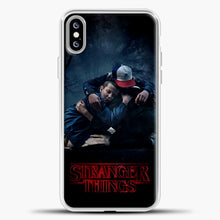 Load image into Gallery viewer, Stranger Things Best Friend Black iPhone XS Max Case, White Plastic Case | casedilegna.com