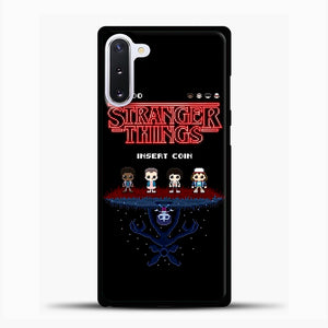 Stranger Things Bitmap Samsung Galaxy Note 10 Case, Black Plastic Case | casedilegna.com