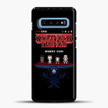 Load image into Gallery viewer, Stranger Things Bitmap Samsung Galaxy S10 Case, Black Plastic Case | casedilegna.com