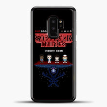 Load image into Gallery viewer, Stranger Things Bitmap Samsung Galaxy S9 Case, Black Plastic Case | casedilegna.com