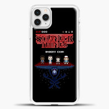 Load image into Gallery viewer, Stranger Things Bitmap iPhone 11 Pro Case, White Plastic Case | casedilegna.com