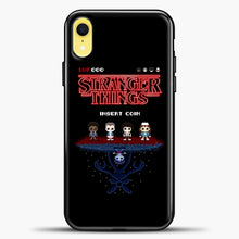 Load image into Gallery viewer, Stranger Things Bitmap iPhone XR Case, Black Plastic Case | casedilegna.com