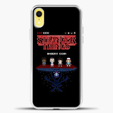 Load image into Gallery viewer, Stranger Things Bitmap iPhone XR Case, White Plastic Case | casedilegna.com