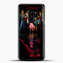 Load image into Gallery viewer, Stranger Things Black Samsung Galaxy S9 Plus Case, Black Plastic Case | casedilegna.com