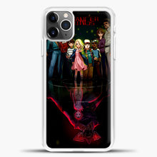 Load image into Gallery viewer, Stranger Things Black iPhone 11 Pro Max Case, White Plastic Case | casedilegna.com