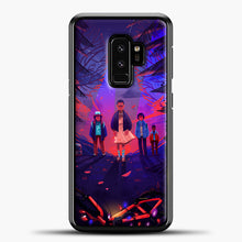 Load image into Gallery viewer, Stranger Things Cartoon Purple Samsung Galaxy S9 Plus Case, Black Plastic Case | casedilegna.com