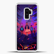 Load image into Gallery viewer, Stranger Things Cartoon Purple Samsung Galaxy S9 Plus Case, White Plastic Case | casedilegna.com