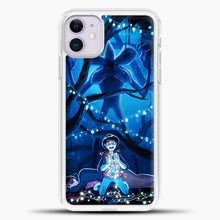 Load image into Gallery viewer, Stranger Things Demogorgon Navy iPhone 11 Case, White Plastic Case | casedilegna.com