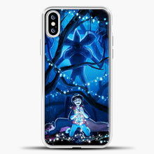 Load image into Gallery viewer, Stranger Things Demogorgon Navy iPhone XS Case, White Plastic Case | casedilegna.com