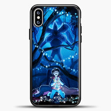 Load image into Gallery viewer, Stranger Things Demogorgon Navy iPhone XS Max Case, Black Plastic Case | casedilegna.com