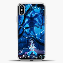 Load image into Gallery viewer, Stranger Things Demogorgon Navy iPhone XS Max Case, White Plastic Case | casedilegna.com