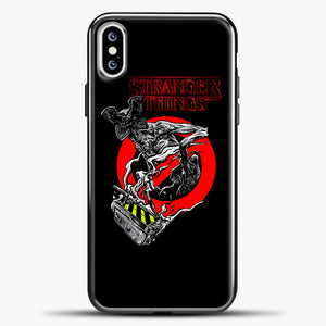 Stranger Things Demogorgon iPhone XS Case, Black Plastic Case | casedilegna.com