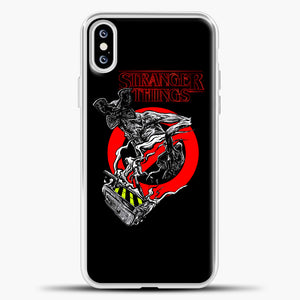 Stranger Things Demogorgon iPhone XS Case, White Plastic Case | casedilegna.com