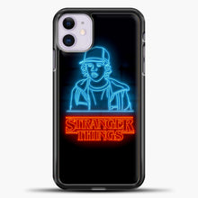 Load image into Gallery viewer, Stranger Things Dustin iPhone 11 Case, Black Plastic Case | casedilegna.com