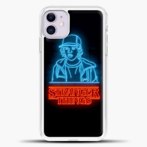 Stranger Things Dustin iPhone 11 Case, White Plastic Case | casedilegna.com
