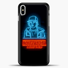 Load image into Gallery viewer, Stranger Things Dustin iPhone X Case, Black Plastic Case | casedilegna.com