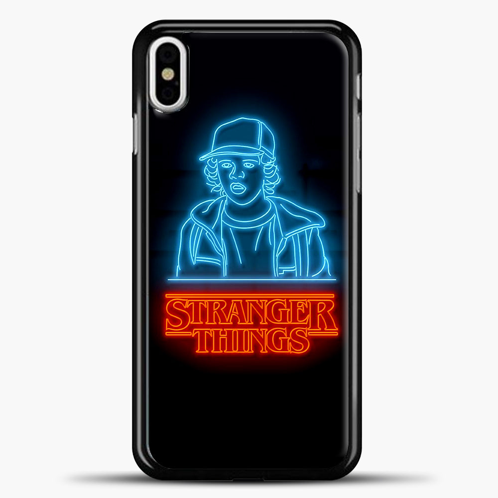 Stranger Things Dustin iPhone X Case, Black Plastic Case | casedilegna.com